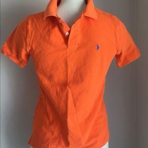 Boys Ralph Lauren polo shirt Orang 10/12 M